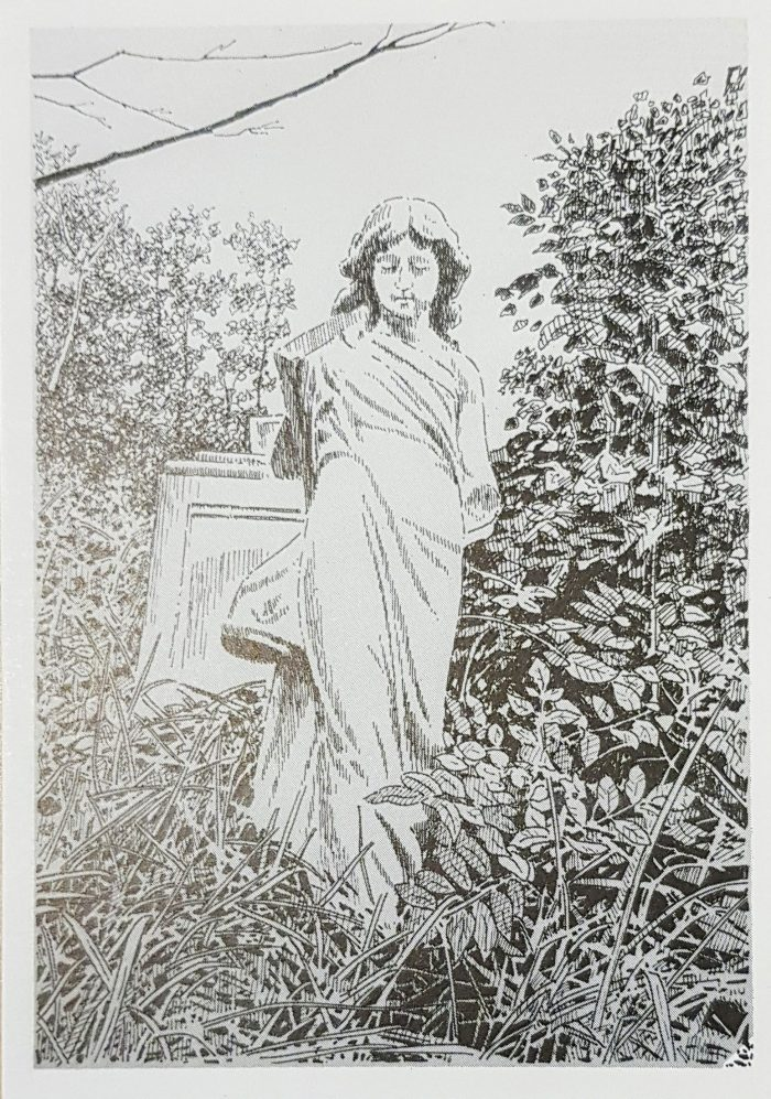 Postcard monument Arthur Prescott