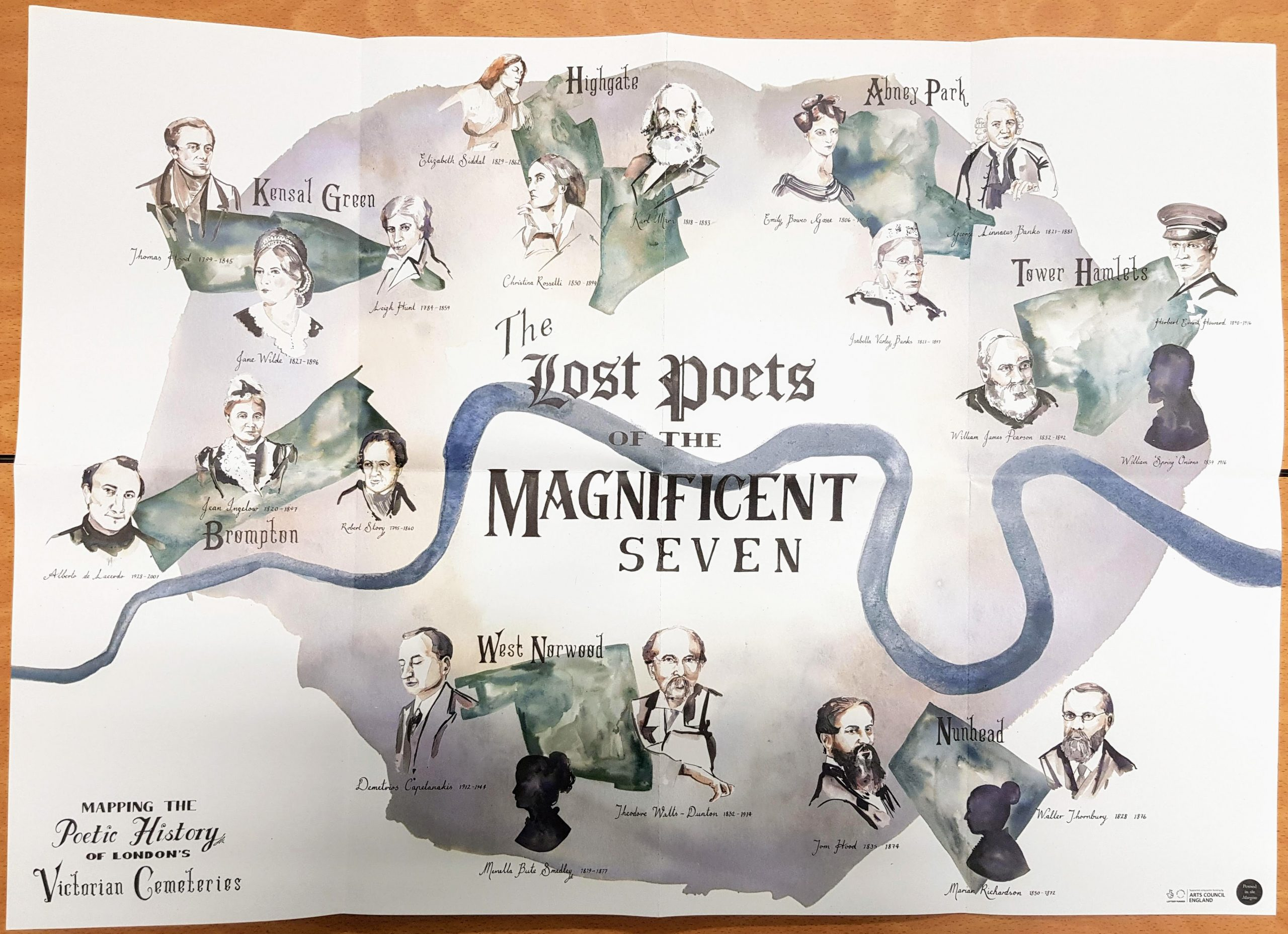 Poster lost poets of the Magnificent Seven